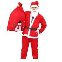 FREE Shipping Santa suit men clothing Non-woven fabrics men Christmas clothes gift / ornament