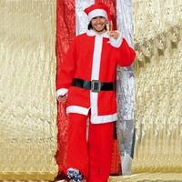 Hot ,quality Brand new Santa suit man clothes Non-woven fabrics / Christmas men cloth Christmas gift / ornament