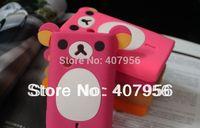 New Design Rilakkuma Lazy Bear Soft Back Case for Sony Ericsson X8 E15i E16i W8,With high quality,1pcs/lot