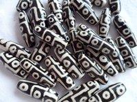 TSB0444  Tibetan 9 eyes agate Dzi beads,30mm,black dzi loose beads,50 beads lot,best offer