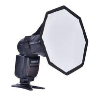 "8"" Portable Quick Setup Speedlite Octagona Diffuser Softbox for Nikon Canon Sony Pentax Flash Speedlite"