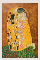 US$36.99/pc(24*36inch),Promotion Item!The kiss Famous handpainted abstract Klimt wall arts for hotel,bistros dco gifts
