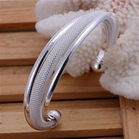 WB112   Wholesale  Fashion Jewelry  Supplier /Promotion Sale 925 Silver  Mesh Bangle  Free shipping  /  Silver Fashion Bracelet