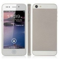 Phone 5 Hero H2000+ 5s 5g Android smartphone MTK6577 WiFi GPS 4 inch Capacitive screen Dual SIM 3G WCDMA Dual Camera 8MP Phone
