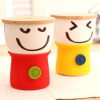 2012 Free shipping Niwawa cqua smiley mug lovers cup with lid ceramic button cup