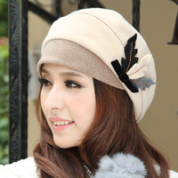 free shipping winter hat cap female autumn and winter millinery wool elegant fashion trend dome beret