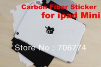 Hot Newest Carbon Fiber Sticker 3D Carbon Fiber Vinyl film Skin Cover Protector  for iPad MINI 3 colors 30pcs/lot  free shipping