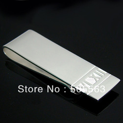 W001 Free shipping / Wholesale Fashion Jewelry / 925 Silver Money Clips / High Quality Promotion Items(China (Mainland))