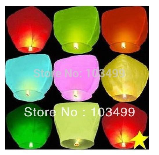 Pure color no pattern kongmin light Sky Lantern Chinese lantern(China (Mainland))
