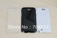 Clear Transparency Crystal plastic Case for Samsung GALAXY Note 2 ii N7100,China Post Free shipping 50pcs/lot