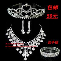 The bride accessories the bride set wedding dress jewelry the bride accessories marriage accessories chain sets piece set