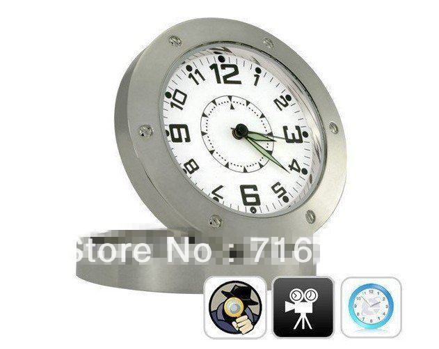 DHL FREE SHIP 30pcs/lot Hidden Security Camera Desk Clock DV DVR Recorder Camcorder Cam With Motion Detection With Retail Box(China (Mainland))