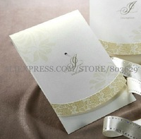 Simple Spring Style Folded Invitation With Rhinestone (Set of 50) Printable and Customizable Wholesale Free Shipping