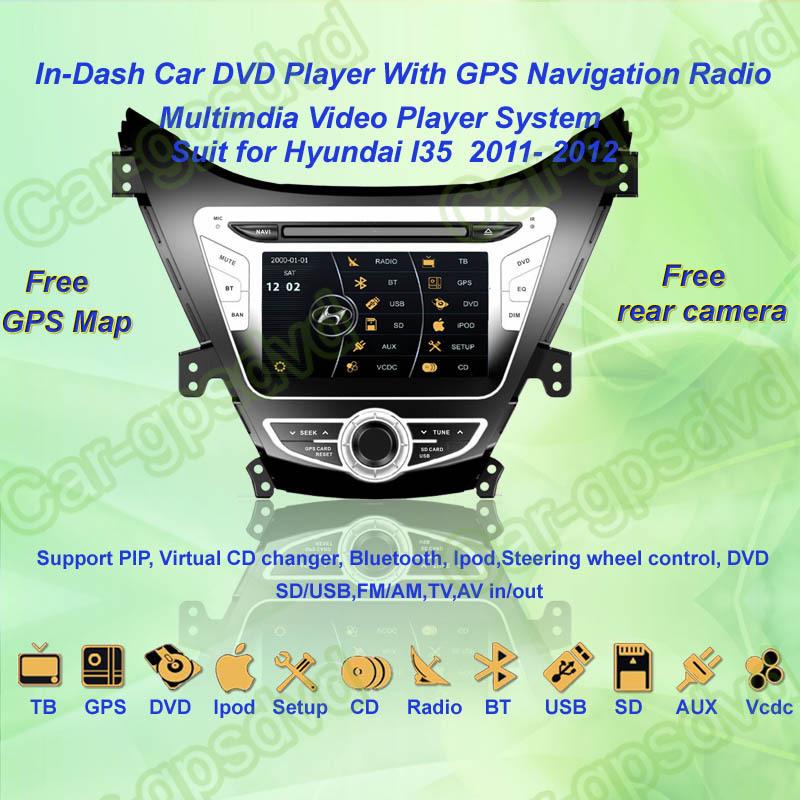 Free Shipping! 2011, 2012 Hyundai I35 GPS Navigation DVD Player ,TV,Multimedia Video Player system+Free GPS map+Free camera(China (Mainland))