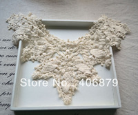 10Pcs/Lot Fashion Gorgeous ivory collar  appliques/ DIY Garment Lace Trim Wholesale, Free shipping