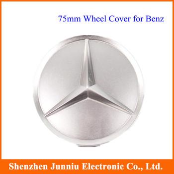 75mm Spray Painting MERCEDES BENZ Car Emblem Wheel Cover Hub Cap Hubs Free Shipping 4 Pcs/lot