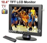 10.4 inch TFT LCD 4:3 screen VGA/AV/ input monitor with TV,1CH Video input ,2Ch Audio input