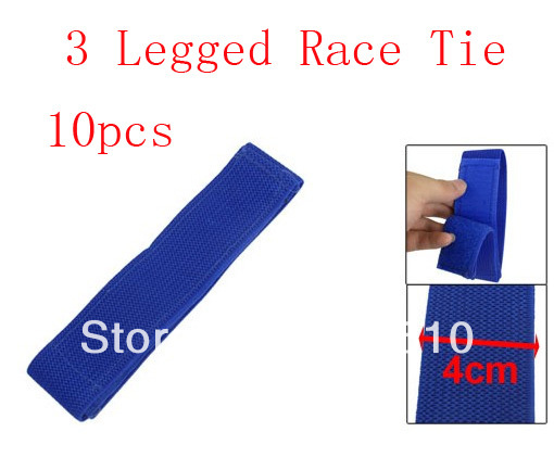 "20.9"" Detachable Closure Three Legged Race Game Tie Blue Elastic Strap(China (Mainland))"