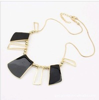 Колье-цепь New N0433 Fine Heavy large leaf tassels pendent necklace for woman Fashion New Retro Jewelry