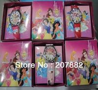Free shipping! Christmas Gift !100pcs/lot ! Princess Cartoon Kids Watch Children Quartz Wrist Watch A1595 Wholesale