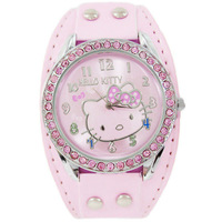 Lose Money Promotions! Cheap Hello Kitty Leather Watch Leather Analog Quartz Watches children Women Wristwatch Pink Color