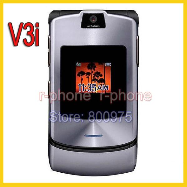 Hot Sale Unlocked Refurbished Original Motorola Razr V3i Mobile Phone Camera Bluetooth MP3 & One year warranty(China (Mainland))