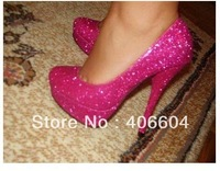 Daffodil 14cm Pink Sequins ,Hottest salling! wedding shoes brand high heels