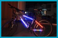 Blue Bike Bicycle Rainbow LED Light Bar Strip Decoration Wheel Tyre Spoke Free Shipping