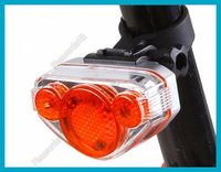 Waterproof Bicycle Cycling Bike 5 LED Plastic Caution Warning Tail Light Free Shipping