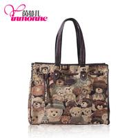 Spring Messenger bags Original assembled  product  teddy bear discount brand handbags new arrived Italy design shoulder bag