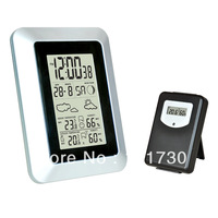 Cheap freight cost to buy wireless RF weather station clock in low price  best for decoration
