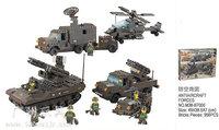 Building Block Set SLuBanM38-B7000 Army forces/air defense BaoTuan 957PCS,3D Block Model,Educational