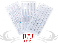 FREE SHIPPING 100pcs SHADER PACKING MIXED ASSORTED Tattoo Needles 10 Sizes Round Shader 3 5 7 9 11 15 RS RM Mix