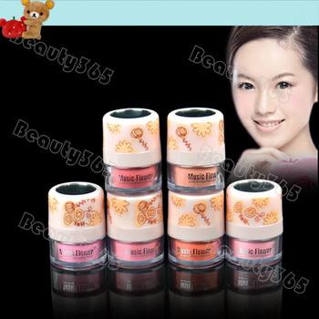 New Women's Girls 3D Pure Mineral Face Cheek Color Blush Blusher Powder Cosmetics Makeup Powder  + Powder Puff & Top Mirror 7829