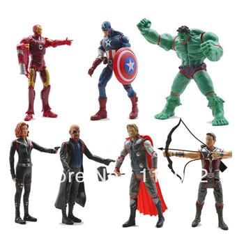 7x Marvel The Avengers Iron man Hulk Thor Captain America Black widow Figure