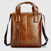 Hot selling men's vintage superior PU versatile shoulder bag / Luxury handle briefcase for male / Free shipping