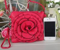 "small messengers handbag cell phone shoulder cross body rose bags camellia Flower 16 colors 2 straps 17x17cm(6.7""x6.7"")"