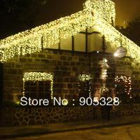 Free Holiday sale 6*1M LED Lights curtain string light rope lamp icicle lighting christmas wedding large christmas decoration