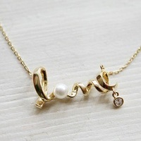 2014  N78 short design unique love necklace(min order $10 mixed items order) jewelry wholesale