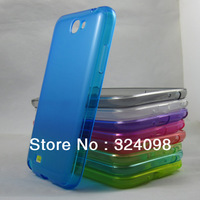 9 Colors Fashion High Quality Soft TPU Gel Case Cover Skin for Samsung Glaxy Note ii 2 N7100 Transparent Case