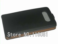 Flip Real Genuine Leather Case Cover Pouch for Nokia Lumia 820 100pcs Free Shipping