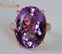 Solid 14ct Gold Natural Diamond & 20ct Amethyst Engagement Wedding Jewellery, NEW ARRIVAL