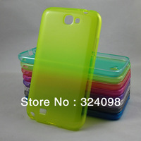Candy Color Crystal Soft TPU Case Cover For Samsung GALAXY NOTE 2 II N7100, Mix Color+Free Shipping for Galaxy Note 2 Case