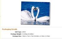 100% hand-painted mini painting Swan