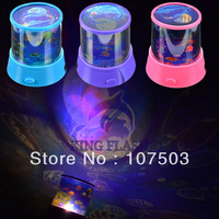 Free Shipping New Romantic Amazing Star Projector Color Changing LED Flash Night Light Lamp 7421