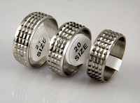 50 pcs Fashion Men's stainless steel rings Wholesale Jewelry Lots, free shipping