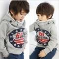 2012 autumn children's clothing male child female child 68 print fleece with a hood child sweatshirt