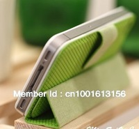 Free shipping folding support holster Phone case for iPhone 4/4s