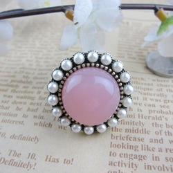 Min order $10(mix order)Personality retropearl ring cheap jewelry vintage wholesale free shipping(China (Mainland))