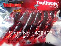 Free shipping Trulinoya fishing lure bait Soft  Soft  Shrimp Red color  70mm  4.8g   6pcs/pack * 3pack = 18pcs